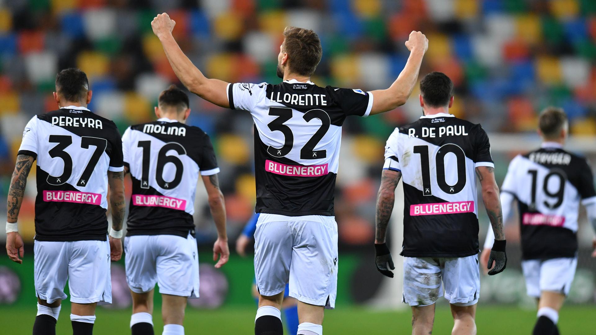 Udinese-Sassuolo 2-0: Llorente-Pereyra, i friulani ora volano
