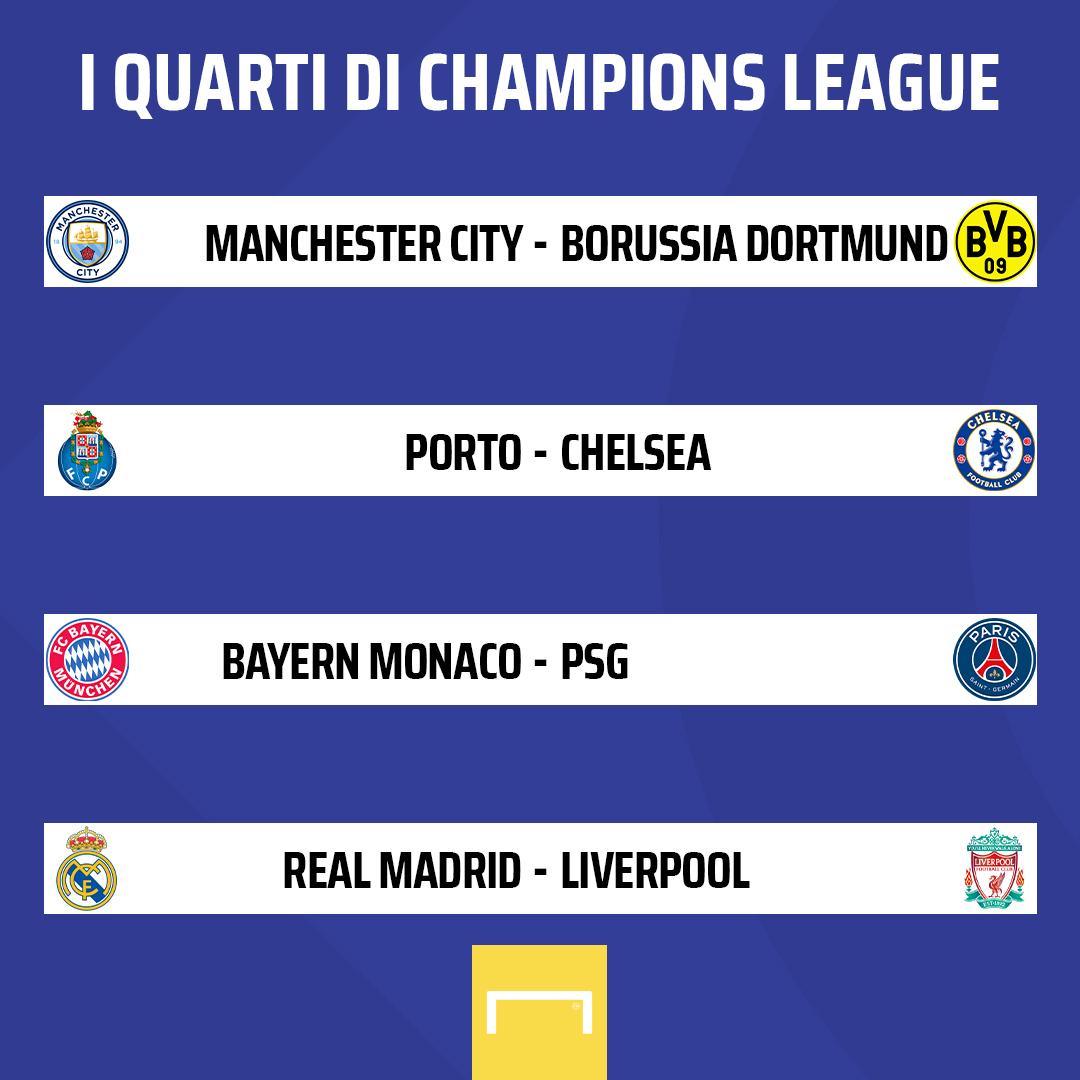 Champions League, il sorteggio di quarti e semifinali: Bayern Monaco-PSG e Real Madrid-Liverpool