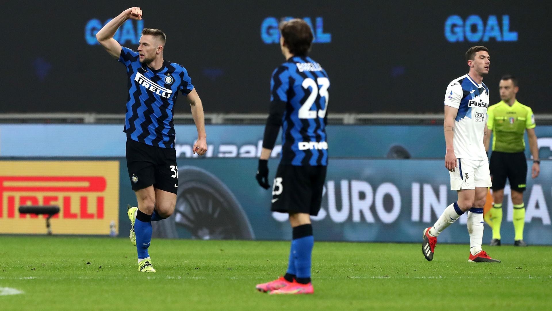 Inter-Atalanta 1-0: Skriniar risponde a Juventus e Milan