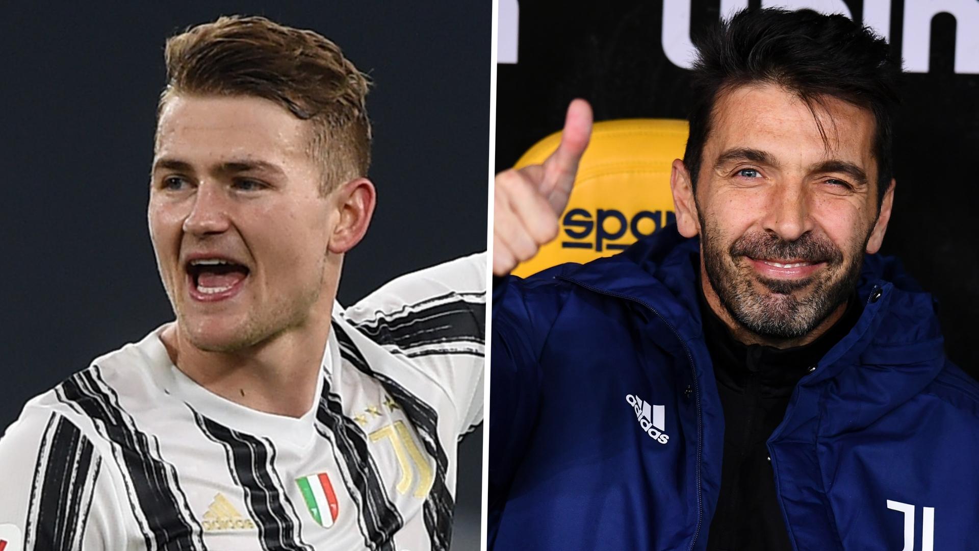"De Ligt racconta Buffon: ""Potrebbe essere mio padre, pensa come un 29enne"""
